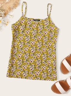 Ditsy Floral Print Cami Top