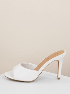 Round Peep Toe Stiletto Thin Heel Mules