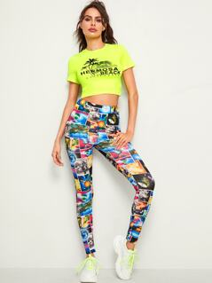 Galaxy Print Skinny Leggings