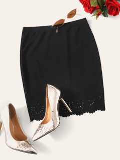 Laser Cut Solid Skirt