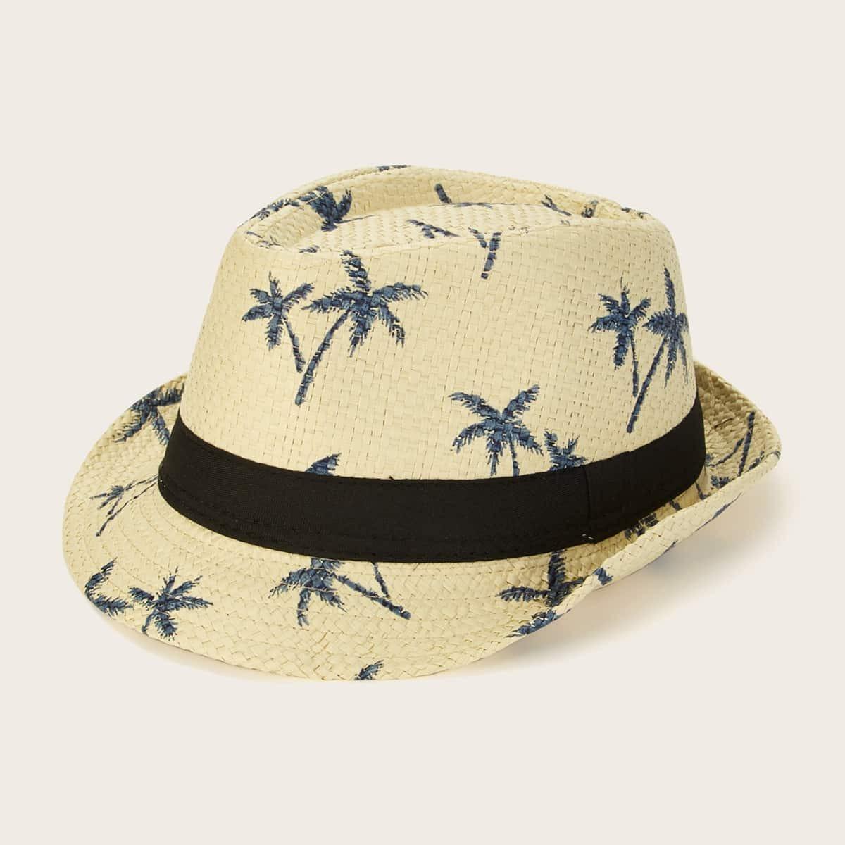 Мужская шляпа с оригинальным принтом от SHEIN