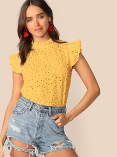 Frilled Neck Schiffy Top