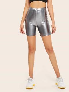 Metallic Cycling Shorts