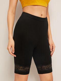 Lace Insert Cycling Shorts