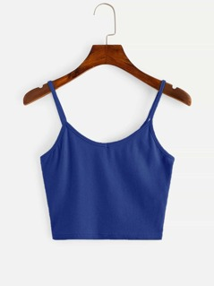 Solid Rib-knit Cami Top
