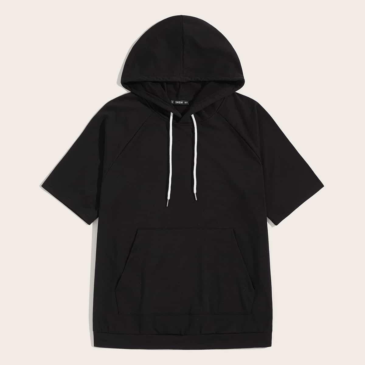 Zwart Casual Vlak Shirts mannen Zak