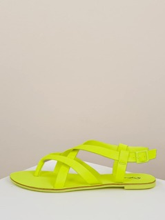 Neon Strappy Slingback Thong Gladiator Sandals