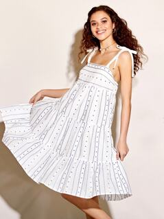 Cotton Embroided Tiered Sundress