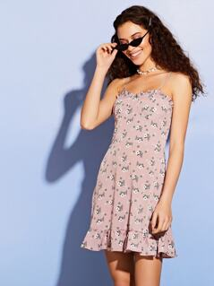 Ditsy Floral Strappy Mini Dress