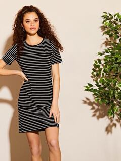 Jersey Stripe Tee Dress