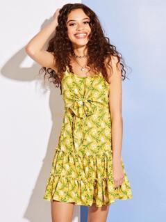 Ditsy Flare Mini Dress