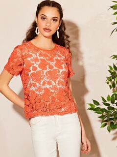 Cutwork Guipure Lace Top