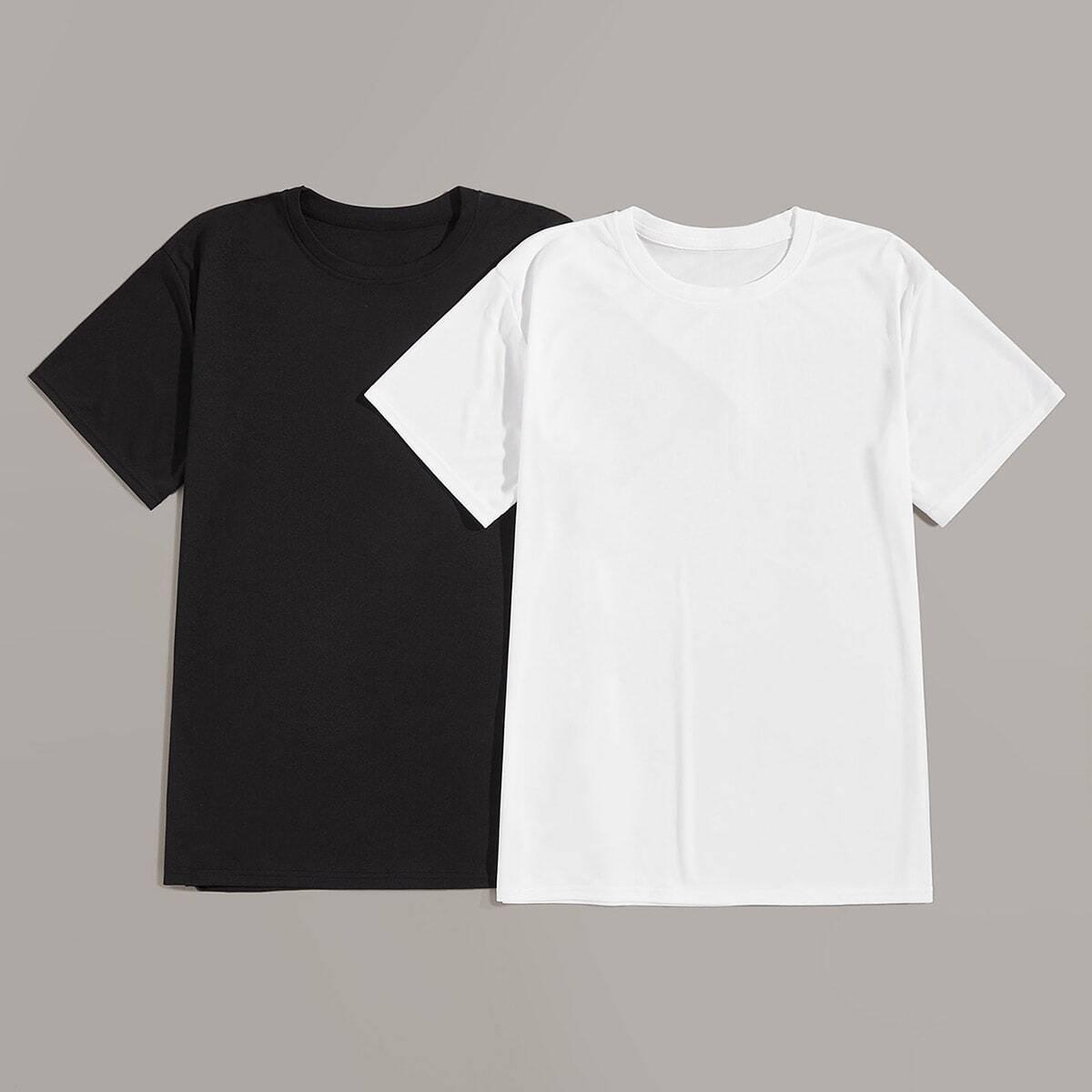 Zwart & wit Basics Vlak Shirts mannen