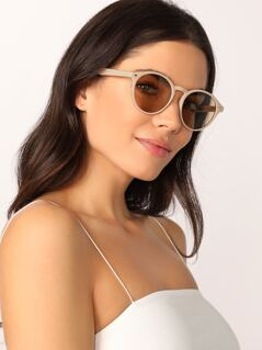 Pastel Round Acrylic Colored Lens Sunglasses
