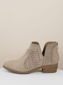Beige Comfort Plain Other Boots, size features are:Bust: ,Length: ,Sleeve Length: