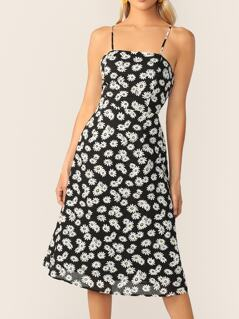 Allover Daisy Print Slip Dress