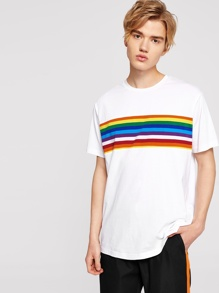 Rainbow | T-Shirt | Stripe | Print | Men
