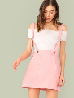 Patch Pocket D-ring Suspender Skirt