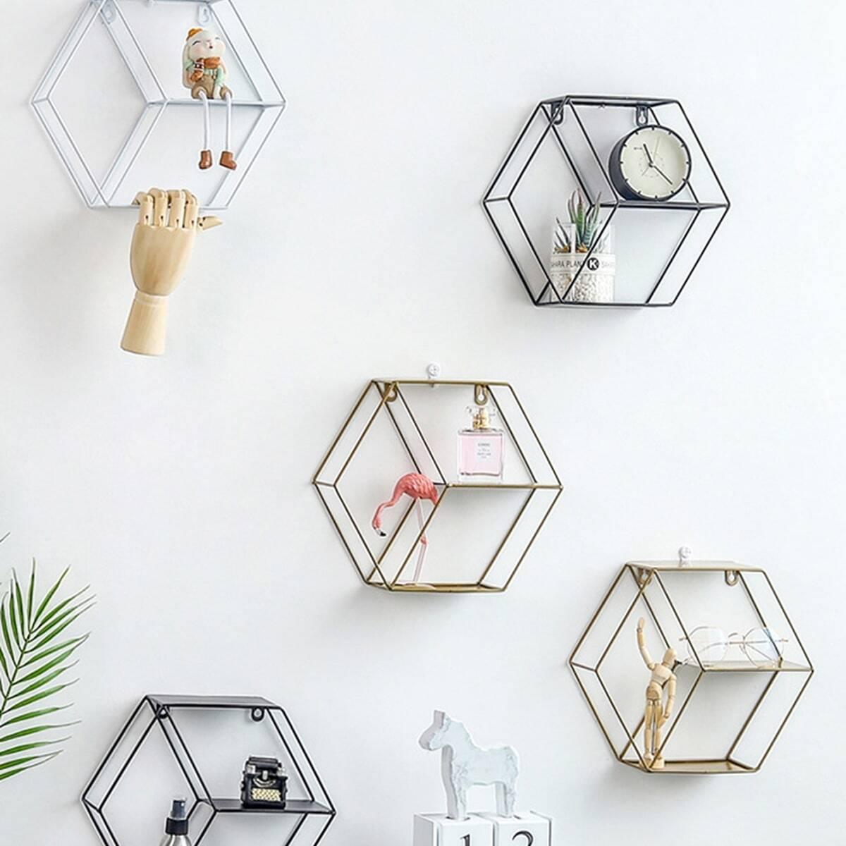 Hexagon Shaped Storage Rack 1pc