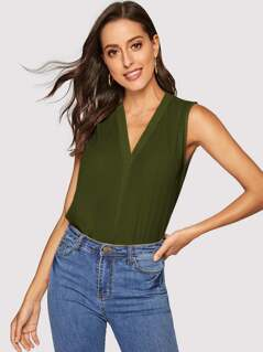 Gathered Shoulder Shell Top