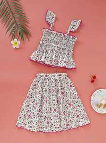 Toddler | Floral | Skirt | Girl | Top
