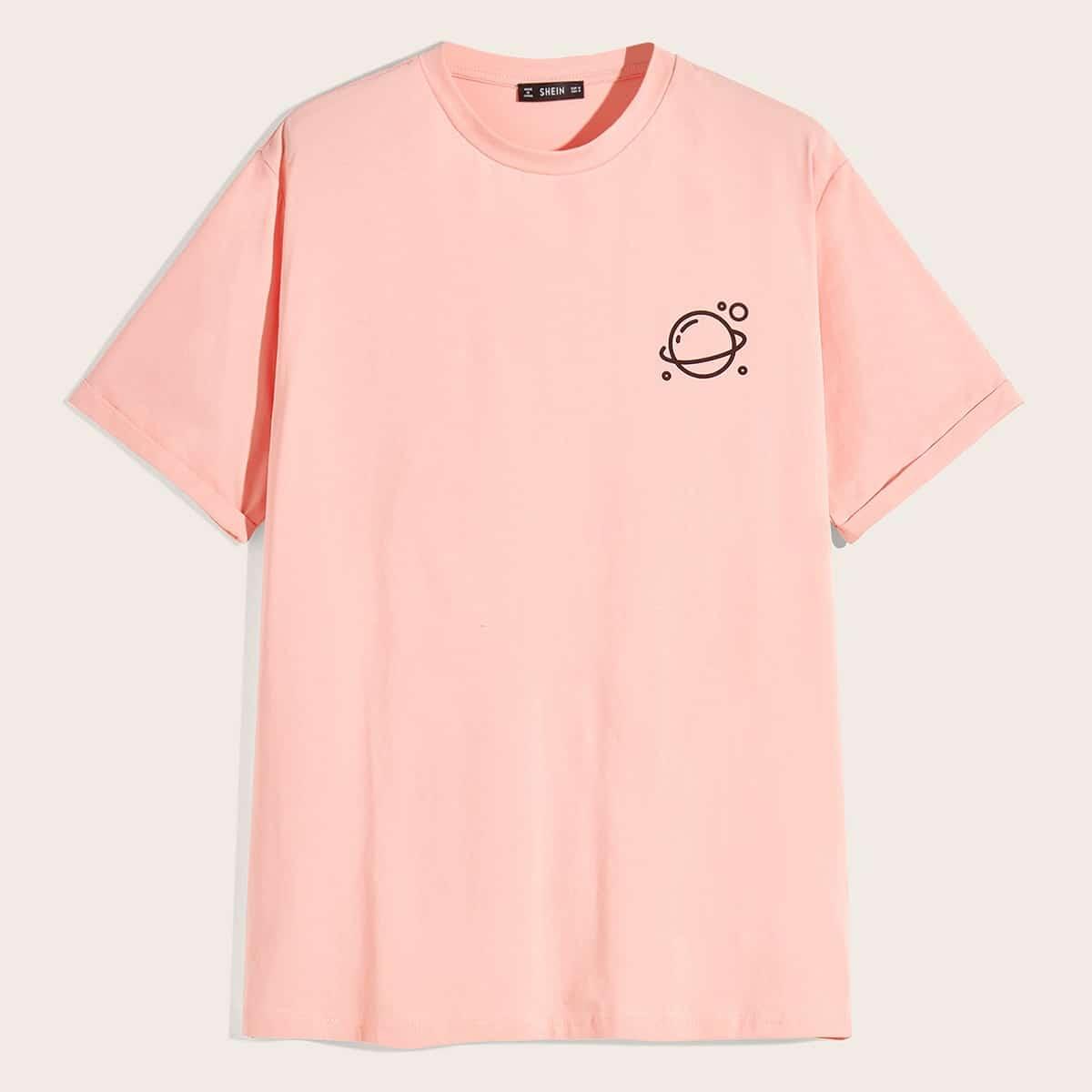 Roze  Casual Melkweg Shirts mannen