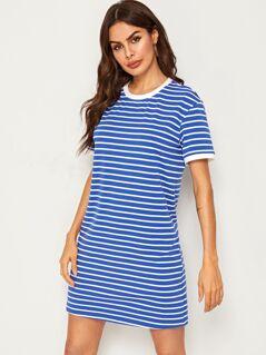 Striped Ringer T-Shirt Dress