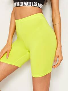 Neon Yellow Cycling Shorts
