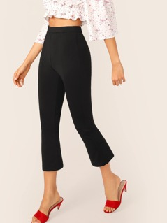 High Waist Solid Pants