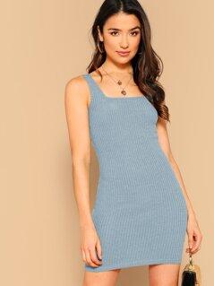 Rib-knit Bodycon Tank Dress
