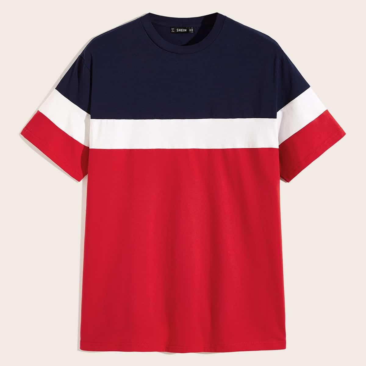 Veel kleurig Casual Shirts mannen Kleurblok