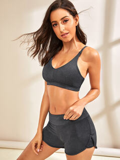 Cami Top and Wide Band Waist Dolphin Shorts Set