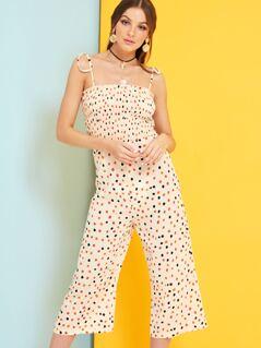 Polka Dot Culotte Jumpsuit