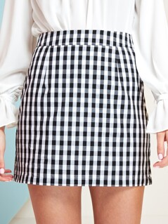 Gingham Mini Skirt