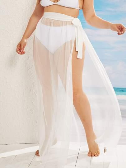 Фото 10 - Платье с многослойными оборками и складками от SheIn цвет фиолетовые