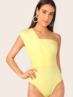 One Shoulder Fitted Bodysuit