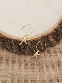 Starfish Charm Small Hoop Earrings
