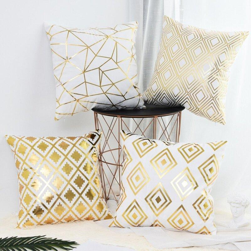 Geometric Pattern Print Cushion Cover 1pc, Multicolor