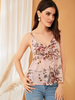 Botanical Print Cami Top