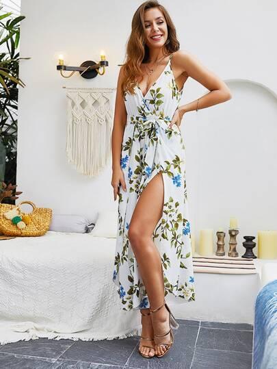 Фото 4 - Платье с многослойными оборками и складками от SheIn цвет фиолетовые