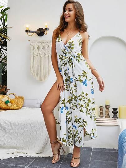 Фото 2 - Платье с многослойными оборками и складками от SheIn цвет фиолетовые