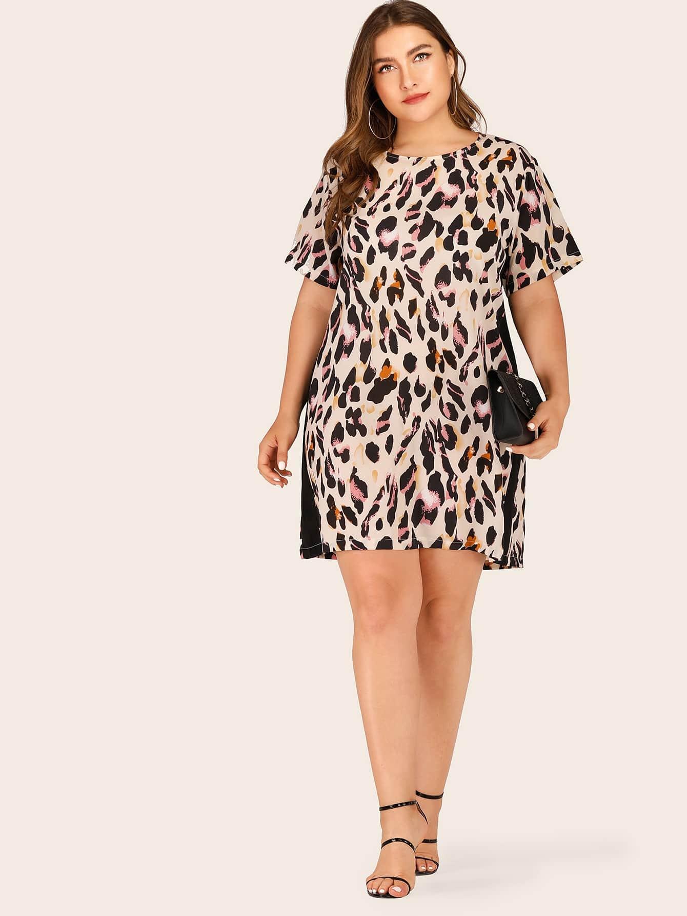 Фото - Платье с регланом рукавлм и вышивкой от SheIn цвет белые