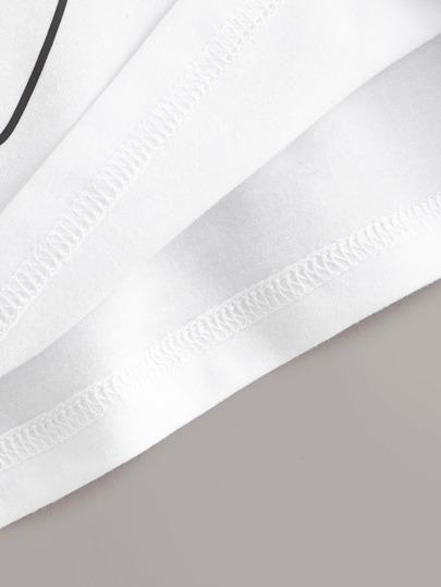 Фото 3 - Однотонное боди от SheIn белого цвета