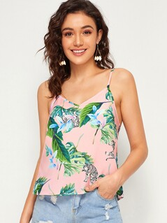 Tropical Print Cami Top
