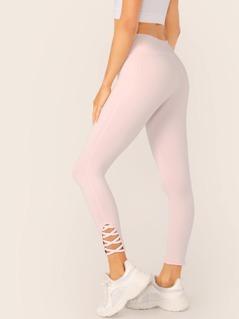 Lattice Strap Full Stretch Leggings