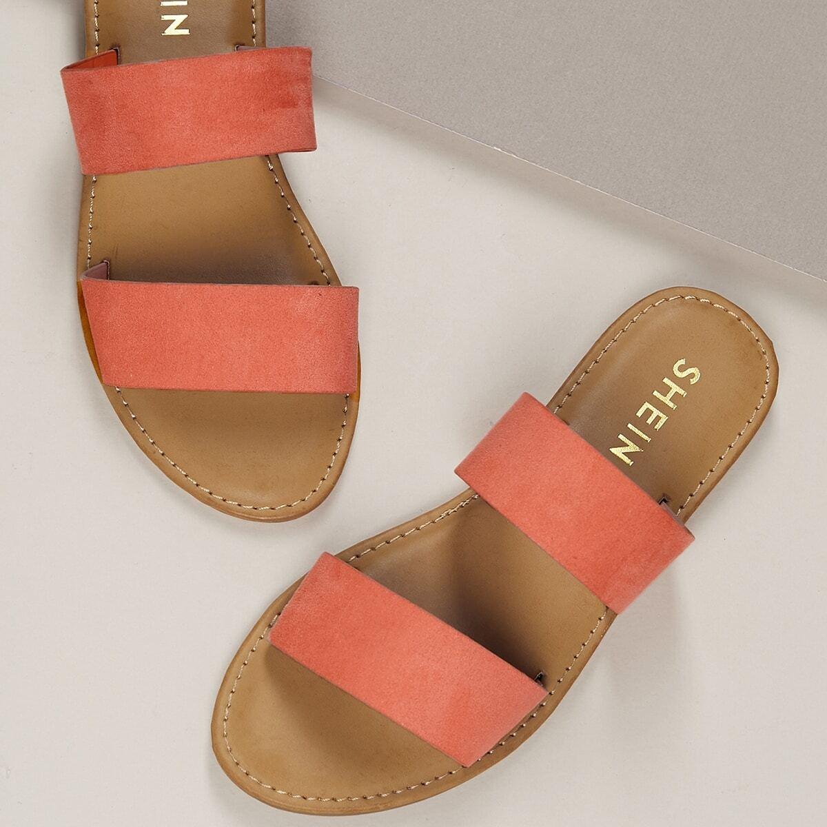Roze  Comfortabel Sandalen