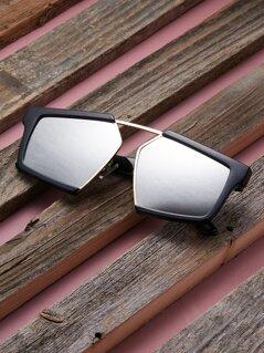 Acrylic Rim Sporty Style Aviator Sunglasses
