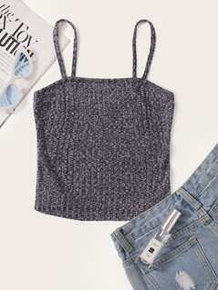 Rib-knit Marled Cami Top
