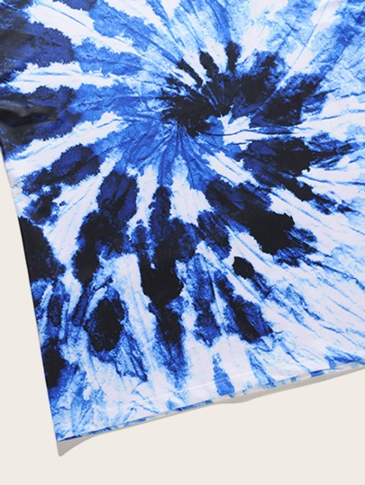 Фото 9 - Разноцветный широкий комбинезон на бретелях с карманом от SheIn цвет многоцветный