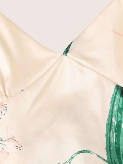 Фото 9 - Разноцветная полосатая блуза с разрезом от SheIn цвет многоцветный